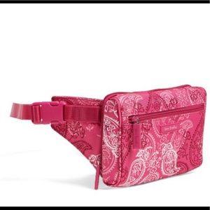 Vera Bradley NWT Belt Bag Stamped Paisley Pink